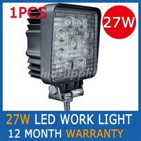 1PCS 27W  LED WORK LIGHT DRIVING LIGHTS OFFROADS CAR FOG LAMP TRUCK BOAT 4WD 4x4 SPOTLIGHT TRUCK SPOT PENCIL BEAM