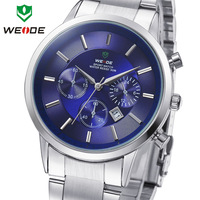WEIDE Men Sports Watches Military Full Steel Diver Quartz Watch 3ATM Waterproofed Luxury Brand New Fashion Style, Free Shipping