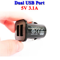 3.1 Amps Dual Port USB Car Charger for iPhone 5S 5C 5 for iPad or Samsung Galaxy S5 S4 S3 S2 Tablet Cargador