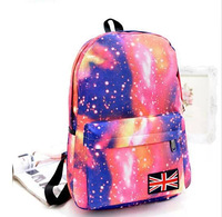 2014 New arrival Korea fashion star students backpack girls school bags 4 colors  black ,blue,brown,pink F-164