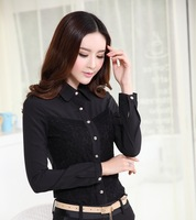 New Fashion 2014 Femininas Woman's Tops Clothes Office Work Wear Blouses Shirt Formal Blusas Spring Autumn Women Clothing Blusa