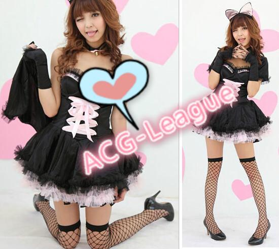 Neko Maid Costume Neko Cat Ear Evil Maid