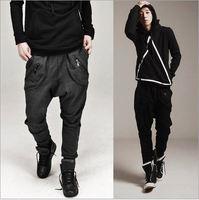 CR-62 new 2014 Men skinny joggers Low crotch joggers drop crotch sweat pants Baggy pants men fashion harem pants sport