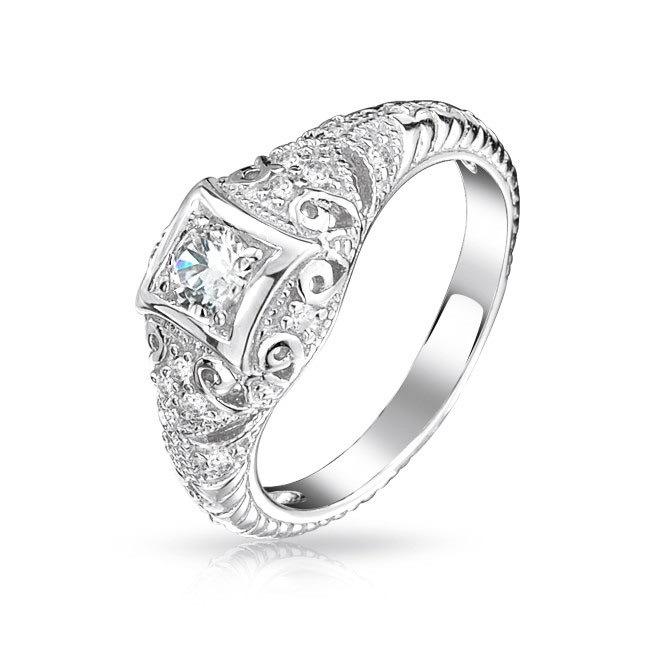 ... suisse CZ diamant Rhodium anneau de mariage bijoux ( quotidienne DAR