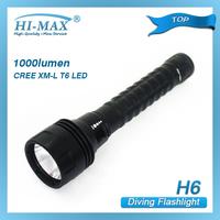 HI-MAX 200Meters 1pcs CREE XM-L T6 LED Dive Torch Light scubapro led diving flashlight highlight flashlight