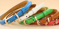 Genuine Leather skinny belts for women, High quaity Fashion Women belt, Casual Women's Cintos femininos 2014