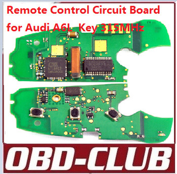 Remote Control Circuit Board for a udi A6L 3 Buttons Remote Key 315MHz Free shipping(China (Mainland))