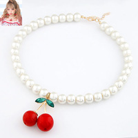2014 quality personalized spiritualism cherry elegant sweet pearl necklace female