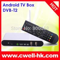 DVB-T2 Set Top Box 1080P Android TV Box Amlogic 8726-MX Dual Core 1GB RAM/4GB ROM Support HDMI, WIFI and LAN