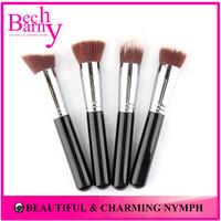 TOP Quality 4 PCS Synthetic Kabuki Makeup Brush Set COPPER Ferrule Foundation Face Brushes