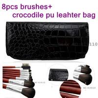 Cosmetic brush set & tool 8 pcs Synthetic hair Makeup brushes kit  Luxury bag Professional make up  Cosmetics brush sets tools