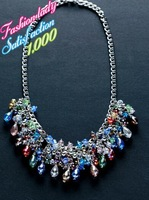 Fashion Newest Design Statement Crystal Beads Pendants Necklace Elegant Luxury Good Quality Za Brand Collar Necklace 2784