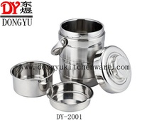 1.4L Mirror Polished Stainless Steel Thermal Insulation Lunch Pot , Manufacturer Price Promotion Gift Food Warmer Pots