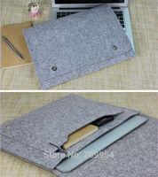 """Woolen Felt Laptop Case Pouch 11""""11.6""""13""""13.3""""15.4"""" Notebook Ultrabook Sleeve Bag For Macbook Air Pro"""