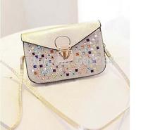 New 2014 women diamond handbag fashion messenger bag female handbags desigual womens mini shoulder bags Free Shipping