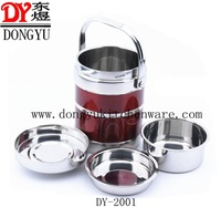 Colorful  Stainless Steel Heat Preservation Pot , Export Gift Lunch Pot for Students and Employees, Color Promotion Gift Pots