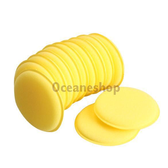 12pcs Car Vehicle Polish Wax Foam Sponges Car Applicator Pads Car Glass Cleaning Sponges BHU2(China (Mainland))