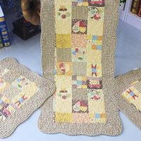 Cotton fabric car seat cushion four seasons seat auto upholstery general slip-resistant mat piece set