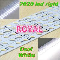 SMD 7020 Rigid LED bar tube Strip Light DHL  ship 100pcs/lot 1M DC12V 72leds 25-35LM High Lumen Cool White Color +U/V sheller
