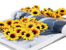simulação 100 girassóis artificiais flor de seda artesanato para decoração de festa(China (Mainland))