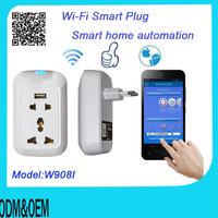 Europe smart home automation Wifi Control Plug&Socket via Smartphone