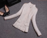 2014 Parkas For Women Winter Coat Jacket Women Outerwear Argyle Thick Beige Black Short Down Jacket Parka Jaqueta Feminina