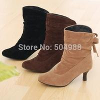 womens boots Classic short boots matte comfortable generous Bottine code thin heels snow boots