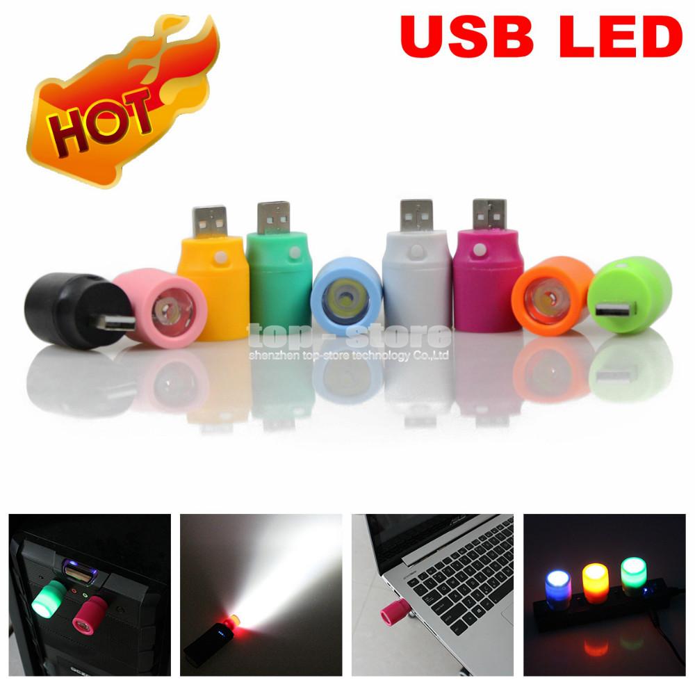 5 pcs/lot DC 5V Mini USB LED Light with Switch for Power Bank Flashlight / PC / HUB / Car Charger Free Shipping(China (Mainland))