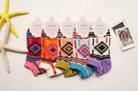 Fashion woman  socks 100% cottom ethnic style free shipping