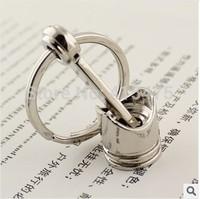 piston fashion keychain novelty items key bag chains creative gift key chain men key ring