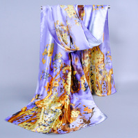 New Arrival Women Popular Print Pattern Polyester Imitated Silk Scarf Lady Multicolor Novelty Long Scarves Winter Shawl165*50cm