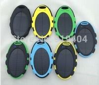 Portable Waterproof Solar Charger 5000mah External Battery Solar Power Bank for Mobile Phone 100pcs
