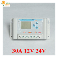 30A 12V 24V wincong sl03-30a solar Charge Controllers LCD display
