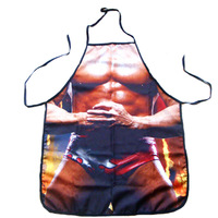 "Newest COOKING APRON Novelty Funny SEXY women Wrestler muscle men  DINNER PARTY  unisex cosplay gift  free shipping 22""*28"""