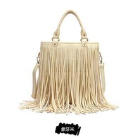 Female bag fashion tassel bag hand rivet restoring ancient ways of bill of lading shoulder bag. Free shipping