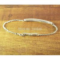Personalized Bar Bracelet Hand Stamped, Customized Silver Jewelry, Engraved Name Bracelet,Nameplate Bracelet,Memorial Jewelry