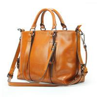 2015 fashion vintage genuine leather bag women handbag shoulder bags leather tote bolsos crossbody women messenger bags