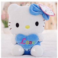 blue heart hello kitty birthday present soft toy kids toy girlfriend's gift one piece free shipping