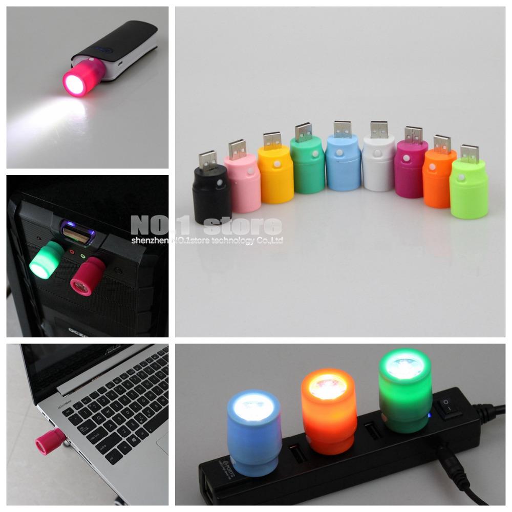 5pcs/lot 1W Mini USB LED Light Portable LED lamp USB Lamp For PC / Notebook / Car Charger / USB HUB(China (Mainland))