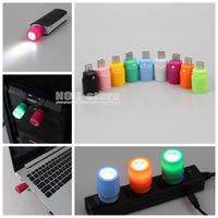 5pcs/lot 1W Mini USB LED Light Portable LED lamp USB Lamp For PC / Notebook / Car Charger / USB HUB