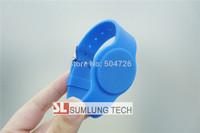 5x silicon 125Khz RFID wristbands, EM4200, 5 colors ID buckle bracelets, LF wrist strap