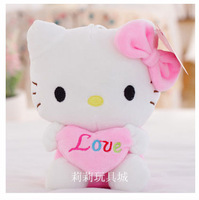 light pink heart hello kitty birthday present soft toy kids toy girlfriend's gift one piece free shipping