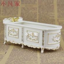 Bonecas 1 : 12 escala oferta especial móveis em miniatura pintura em banheira de ouro(China (Mainland))