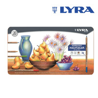 2014 hot sales !Free shipping Germany LYRA Rembrandt Rembrandt Art Ya oily color 72 color pencil lead iron box