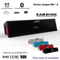 Nizhi Sardine Best HIFI Bluetooth Speaker with FM Radio Stereo Sound Box MIC Mini Portable Speaker SDY-019