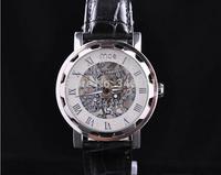 free shipping 2014 New WINNER design of Rome hollow mechanical watch men mechanical wrist table