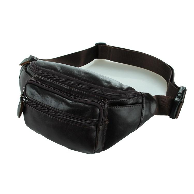 J.M.D Guaranteed 100% cowhide leather Waist bag purse men messenger waist Packs sports best quality natural leather purse 2014(China (Mainland))
