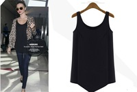 Free shipping 2014 new women vest basic sleeveless vest top spring and summer chiffon fashion loose sweater vest female