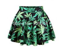 Women Galaxy skirt Black Milk pleated skirt Plus Size Woah Dude Cannabis Marijuana Weed Leaf Skirt Short Dress ZG74