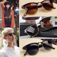 Free Shipping Mens Womens Retro Half-frame Sunglasses Wayfarer Frame Glasses